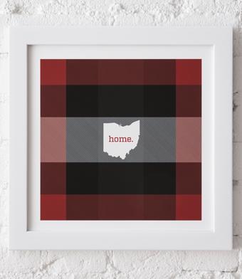 Design with Heart Studio - Art Prints - Framed Plaid Ohio Art Print