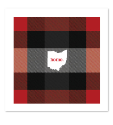 Design with Heart Studio - New - Plaid Ohio Home Art Print