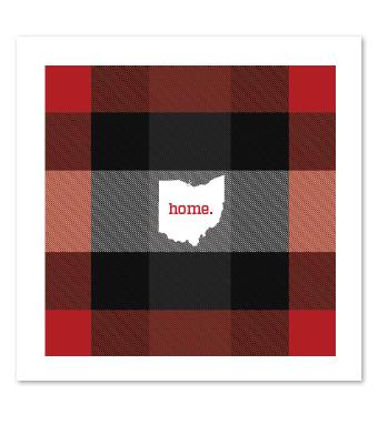 Design with Heart Studio - Art Prints - Plaid Ohio Home Art Print