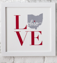 Design with Heart Studio - New - Framed Square LOVE Art Print