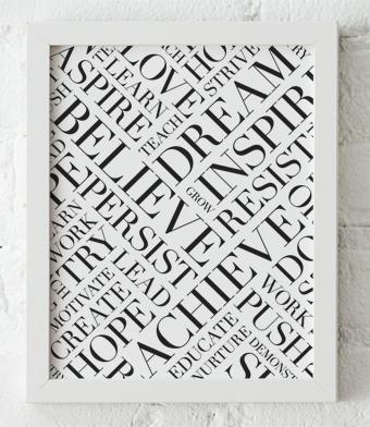 Design with Heart Studio - Art Prints - Framed Dream Believe Achieve Art Print