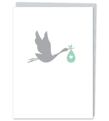 Design with Heart Studio - Greeting Cards New Baby Stork