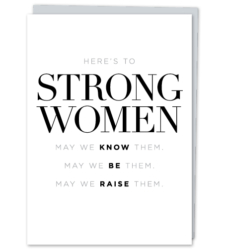 "Design with Heart Studio - New - ""Here's to Strong Women"""