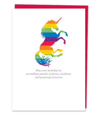 "Design with Heart Studio - Greeting Cards - ""May your birthday be an endless parade"""