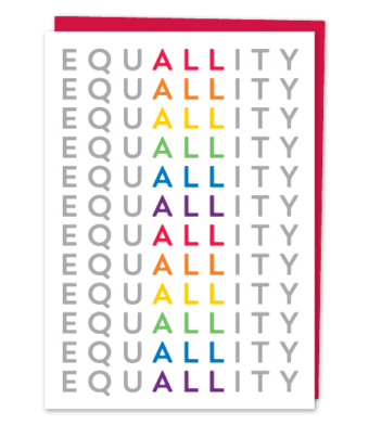 "Design with Heart Studio - Greeting Cards - ""EQUALITY"""