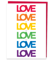 "Design with Heart Studio - New - ""Love is Love is Love"""
