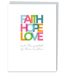 "Design with Heart Studio - New - ""Faith Hope Love"""