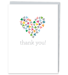 "Design with Heart Studio - Greeting Cards ""thank you!"""