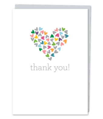 "Design with Heart Studio - Greeting Cards - ""thank you!"""