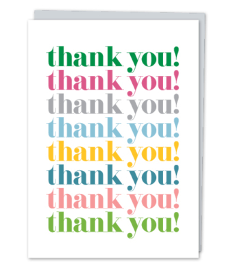 """Design with Heart Studio - Greeting Cards - """"thank you!"""""""