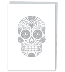 Design with Heart Studio - New - Silver Sugar Skull