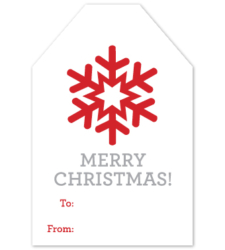 Design with Heart Studio - Holiday - Merry Christmas Gift Tag
