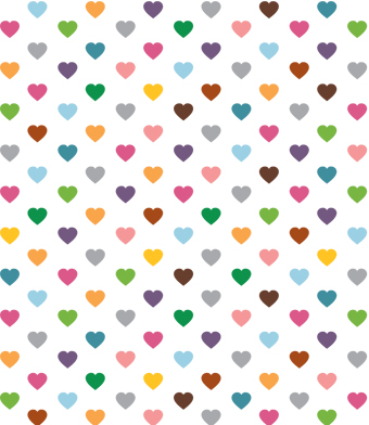 Design with Heart Studio - Giftwrap - Multi Hearts Giftwrap