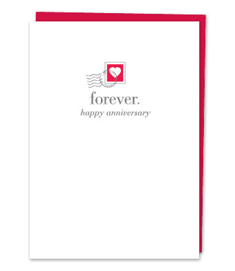 """Design with Heart Studio - Greeting Cards - """"Forever. Happy Anniversary"""""""