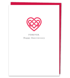 "Design with Heart Studio - Greeting Cards ""Forever. Happy Anniversary"""