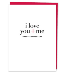"Design with Heart Studio - Greeting Cards ""I love you + me"""