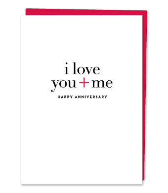 "Design with Heart Studio - Greeting Cards - ""I love you + me"""