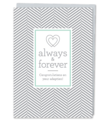 "Design with Heart Studio - ""Always & forever. Congratulations on your adoption!"""