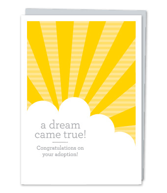 "Design with Heart Studio - Greeting Cards - ""A dream come true! Congratulations on your adoption!"""