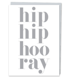 "Design with Heart Studio - Greeting Cards ""Hip hip hooray"""