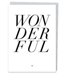 "Design with Heart Studio - Greeting Cards ""Wonderful"""