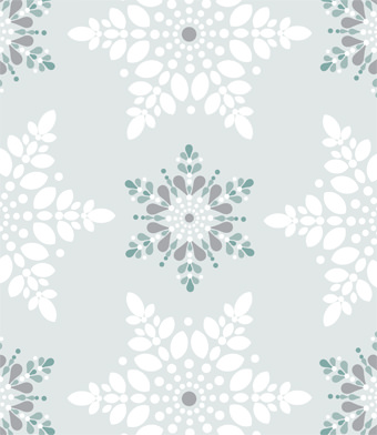 Design with Heart Studio - Holiday - Iced Teal Snowflake Giftwrap