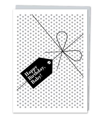 "Design with Heart Studio - Greeting Cards - ""Happy Birthday, Baby"""