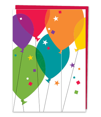 Design with Heart Studio - Greeting Cards - Birthday Balloons