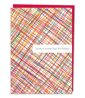 "Design with Heart Studio - Greeting Cards - ""Have a crazy-fun birthday!"""
