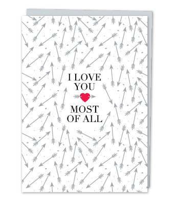 Design with Heart Studio - Greeting Cards - I Love You Most Of All