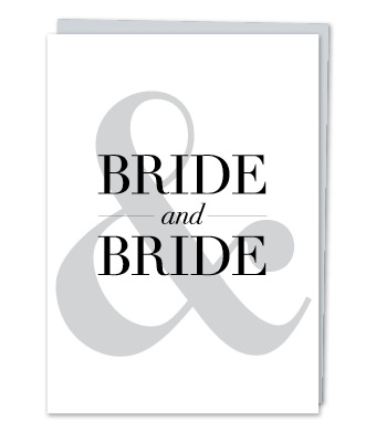 "Design with Heart Studio - Greeting Cards - ""Bride & Bride"""