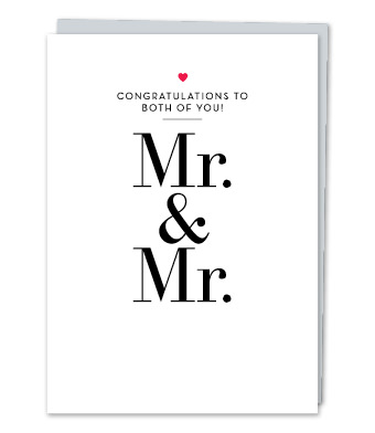 "Design with Heart Studio - Greeting Cards - ""Mr. & Mr."""