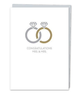 "Design with Heart Studio - Greeting Cards - ""Congratulations, Mrs. & Mrs."""
