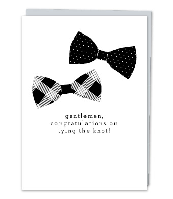 "Design with Heart Studio - Greeting Cards - ""Gentlemen, congratulations on tying the knot!"""
