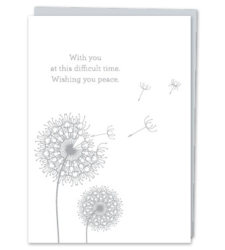 "Design with Heart Studio - ""With you at this difficult time. Wishing you peace."""