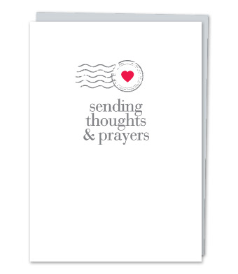 "Design with Heart Studio - Greeting Cards - ""Sending thoughts & prayers"""