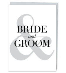 """Design with Heart Studio - Greeting Cards """"Bride & Groom"""" (With Verse)"""