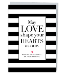 """Design with Heart Studio - Greeting Cards """"May love shape your hearts as one"""""""