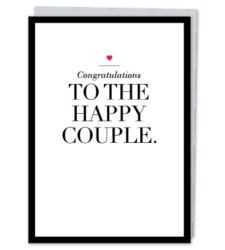 """Design with Heart Studio - Greeting Cards """"Congratulations to the Happy Couple"""""""