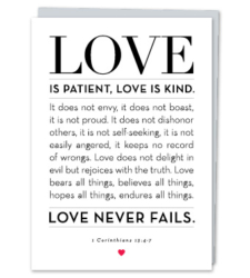 Design with Heart Studio - Greeting Cards 1 Corinthians 13:4-7
