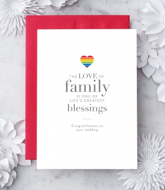 """Design with Heart Studio - Greeting Cards - """"The love of family is one of life's greatest blessings."""""""