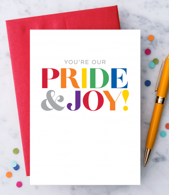 """Design with Heart Studio - Greeting Cards - """"You're Our Pride & Joy!"""""""
