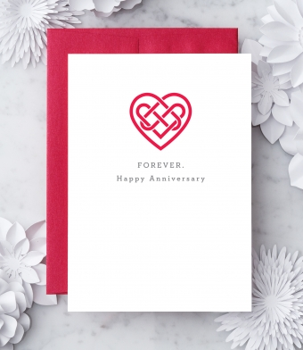 "Design with Heart Studio - Greeting Cards - ""Forever. Happy Anniversary"""