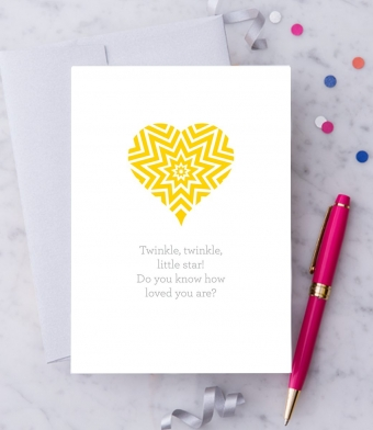 """Design with Heart Studio - Greeting Cards - """"Twinkle, twinkle, little star!"""""""