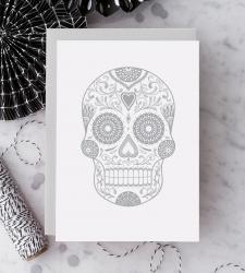 Design with Heart Studio - New - Silver Sugar Skull