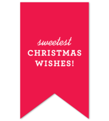 Design with Heart Studio - Holiday - Red Christmas Wishes Gift Tag