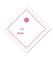 Design with Heart Studio - Holiday - Red Snowflake Gift Tag