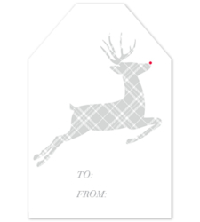 Design with Heart Studio - Holiday - Plaid Reindeer Gift Tag