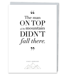 Design with Heart Studio - Greeting Cards Vince Lombardi Quote