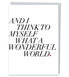 """Design with Heart Studio - Greeting Cards """"What A Wonderful World."""""""